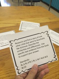 The Boy in the Striped Pajamas task cards. These are writing and research based. Each one includes an answer key.