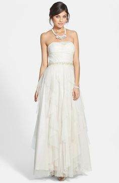 Sparkle Mesh Ball Gown