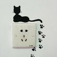 Cute design around the outlet. Nx Silhouette Vinyl, Silhouette Design, Paper Crafts, Diy Crafts, Light Switch Plates, Cricut Vinyl, Vinyl Projects, Stickers, Little People