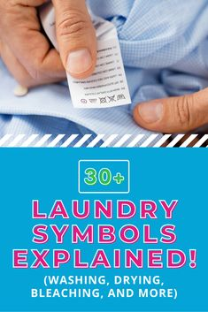 Whether you're washing, bleaching, drying, or dry cleaning, your garment's care label is an important guide. What do laundry symbols mean? This article explains over 30 different symbols and what they mean for your laundry day.