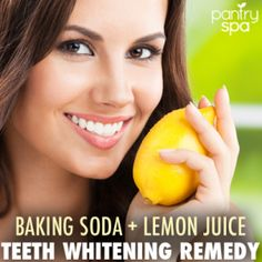 Dr Oz: Teeth Whitening Home Remedy: Baking Soda + Lemon Juice - Pantry Spa