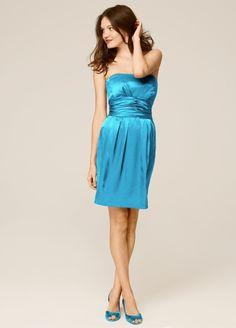 Short Malibu Dress | ... Marine Brand: David's Bridal File in: Bridesmaid Dress , Short Dress