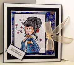 Geisha Girls, Simply Betty Stamps Just Amazing, Copic, Geisha, Cherry Blossom, Scrap, Stamping, Cards, Coloring, Handmade