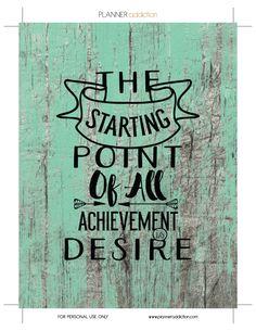 Achievement is desire