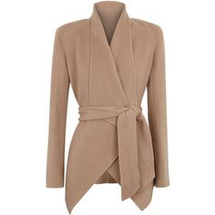Donna Karan Draped Cashmere Jacket