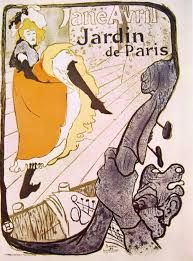 Jardin du Paris: Jane Avril, 1893, litografia a quattro colori, Henri de Toulouse-Lautrec. Collezione privata.