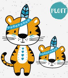 """Plottermotive + """"Boho + Tiger"""" The + sweet + Boho + Tiger + waits + on + in + 2 + versions + in + multicolor + or + monochrome + plotted + to +. Private for + the + + use + incl. + a + mini-commercial license + for + 10 + sales. Monochrome, Doodle Lettering, Boho, Wood Art, Silhouette Cameo, Cardmaking, Diy And Crafts, Doodles, Clip Art"""