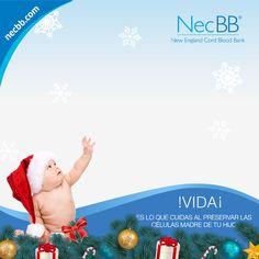 Plantilla navideña para Facebook necBB
