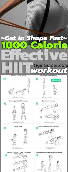 High Intensity Interval Training Workout – 20 Minute HIIT Cardio Workout In the full twenty minutes of this routine, a 1000 Calorie Workout, Calorie Burning Workouts, Interval Training Workouts, Hiit Workout At Home, Home Exercise Routines, Tabata, At Home Workouts, Boxing Hiit Workout, 1 Hour Workout