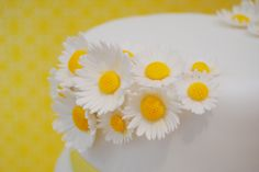 margaritas , daisy , flores , wedding , boda , tarta , cake , fondant , mericakes , barcelona .