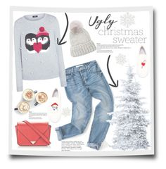 """""""No 254:Ugly Christmas Sweater"""" by lovepastel ❤ liked on Polyvore featuring Joshua's, Eugenia Kim, Alexander Wang, Lipsy and uglychristmassweater"""