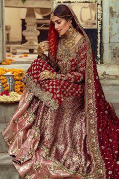 Pakistani Bridal Couture, Pakistani Wedding Dresses, Pakistani Dress Design, Bridal Lehenga, Pakistani Lehenga, Anarkali, Indian Fashion Modern, Latest Indian Fashion Trends, Bridal Dress Design