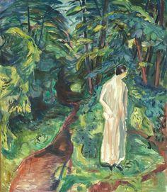 Edvard Munch (Norwegian, 1863-1944), Woman in the Garden, 1926. Oil on canvas, 138 x 119 cm.