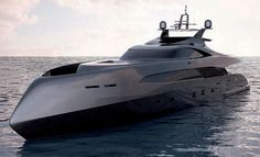 High-Speed Megayacht by Icon Yachts with Ivan Erdevicki _ This rig looks military. Yatch Boat, Catamaran, Super Yachts, Speed Boats, Power Boats, Planes, Cool Boats, Yacht Design, Motor Yacht