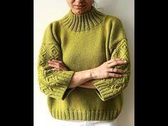 47791d04a9 Женский Свитер Спицами - стильные модели - 2019   Women s Sweater Knitting  Stylish Models - YouTube