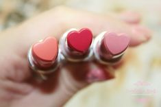 These heart shaped lipsticks are too cute for words.