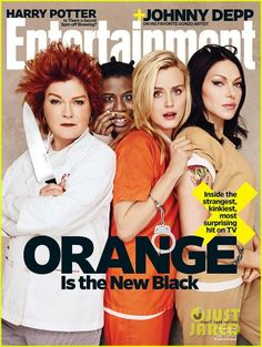 Taylor Schilling, Laura Prepon, Kate Mulgrew, and Uzo Aduba are back in character as Piper Chapman, Alex Vause, Red, and Crazy Eyes on the cover of this week's Entertainment Weekly.