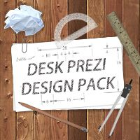 Important: This is not a ready-made Prezi template.  The download contains 38 images, that you can use to create your own desk themed Prezi.  Images included:  11 JPEG Background images(ready mace scenes and blank wood textures) 27 Design elements(technology, papers and various office supplies)