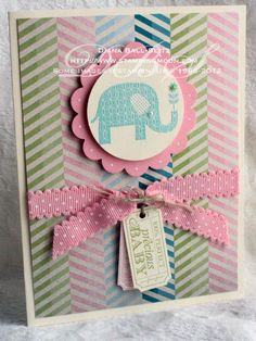 That's the Ticket #Babycard www.stampingmoon.com #stampinup