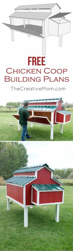Red Chicken Coop | 15 More Awesome Chicken Coop Ideas and Designs | Cheap and Easy DIY Projects For Your Homestead by Pioneer Settler at http://pioneersettler.com/15-awesome-chicken-coop-ideas-designs/