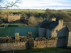 Craignethan Castle, South Lanarkshire, Scotland.  Built in the first half of the 16th century, Craignethan is recognised as an excellent early example of a sophisticated artillery fortification.