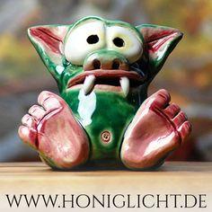 cute little monster from Honiglicht-Keramik