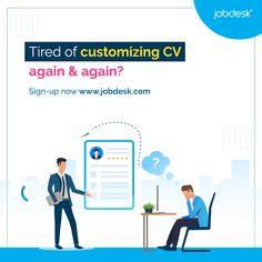 Stand out of others by expressing yourself smartly with #multipleCV feature based on your target jobs! Sign-up now: 👉 www.jobdesk.com 👈 #jobdeskcom #jobdesk #freerecruitmentplatform #globalrecruitingsoftware #cvbuilder #hrapp #hiringplatform
