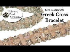 Make a Greek Cross Bracelet (Seed Beading 395) - YouTube