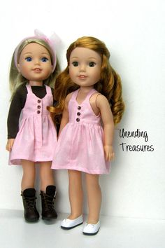 14 inch doll clothes AG doll clothes pink by Unendingtreasures
