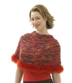 Capelet, Hat, Scarf and Wristlets Set - Capelet Pattern