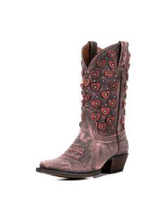 8 Second Angel Women's Belle Heart Boot - Vintage Pink