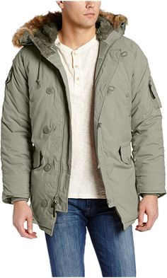 Alpha Industries Men's Altitude Oxford Nylon Parka Jacket, Alaska Green, 4X-Large Best Price