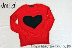 Heart Sweater Tutorial
