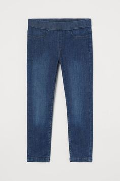 Denim leggings - Dark denim blue - Kids | H&M GB 2 Denim Leggings, Blue Leggings, Dark Denim, Blue Denim, World Of Fashion, Girl Fashion, Magazine Man, Denim Art, Dark