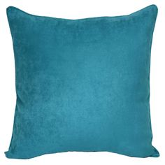Turquoise Heavy Suede Pillow- 18-in