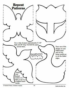 Decorate your classroom or a spring bulletin board with these creative repeating patterns. #butterfly patterns #flower patterns #duck patterns #bird patterns