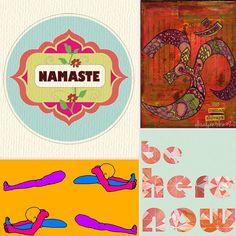 Yoga prints from Etsy