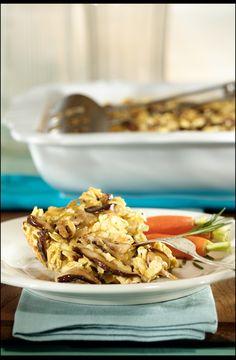 Passover Kugel mushroom vegetarian casserole