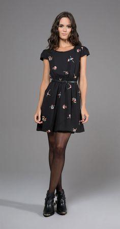 34 Ideas For Dress Elegant Short Black Outfit Trendy Dresses, Elegant Dresses, Cute Dresses, Casual Dresses, Casual Outfits, Short Dresses, Fashion Tights, Fashion Outfits, Tights Outfit