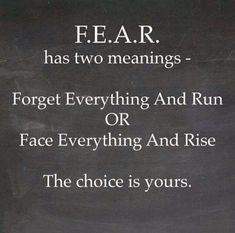 Image result for what does fear stand for pinterest