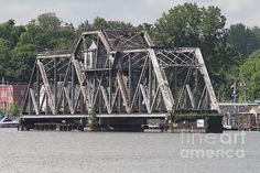 The Hojack Swing Bridge before its removal from the Genesee River at Rochester New York