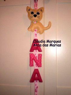 Enfeite de porta nome ANA