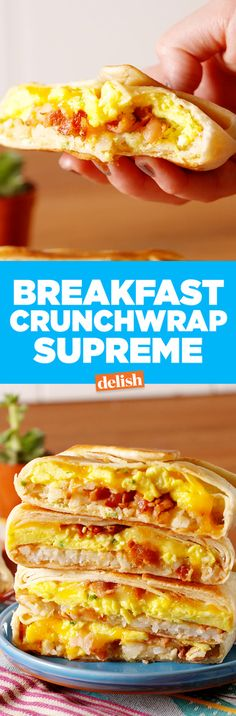 You can make @Taco Bell's Breakfast Crunchwrap at home. Get the recipe from Delish.com.