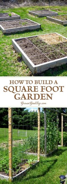 Building a square foot garden is a quick and easy way to begin or expand your garden. The method is also simple to understand, organized, and makes it easy to plan your growing beds. Planification de Jardin How to Build a Square Foot Garden Diy Garden, Garden Trellis, Garden Projects, Garden Landscaping, Garden Sink, Smart Garden, Garden Modern, Garden Planters, Landscaping Ideas