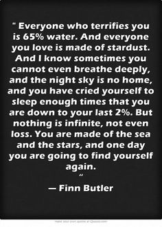 .....you are going to find yourself again x