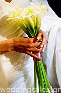Chic νυφική ανθοδέσμη γάμου - με κάλες Οργάνωση & Διακόσμηση Γάμου Elite Events Athens