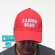 Casino gift shop hat against gambling