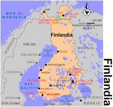 Cartina Helsinki.Cartina Finlandia Finland Father Map