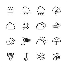 Weather – icon set – accident and disaster vector clip art Bullet Journal Ideas Pages, Bullet Journal Art, Easy Doodle Art, Doodle Art For Beginners, Easy Doodles Drawings, Cute Little Drawings, Doodle Art Journals, Doodle Drawings, Small Drawings