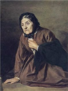 """""""An Old Woman"""", 1874, by Vasily Perov (Russian, 1834-1882)"""